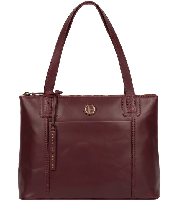 'Newark' Burgundy Leather Handbag image 1