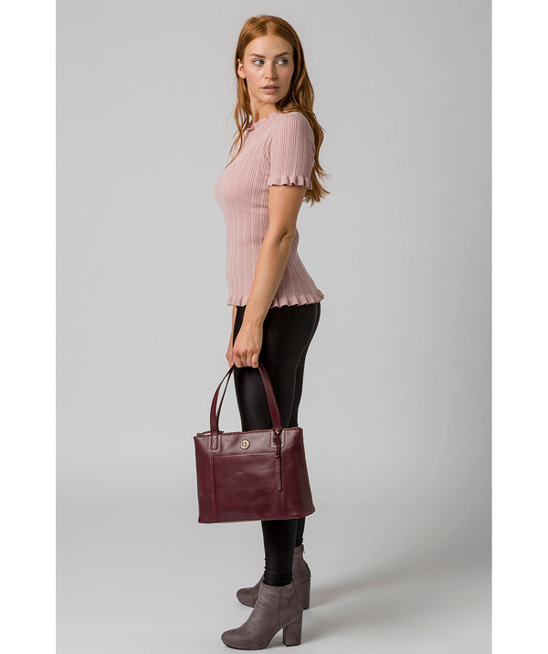 'Newark' Burgundy Leather Handbag image 2