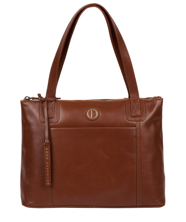 'Newark' Vintage Cognac Leather Handbag image 1