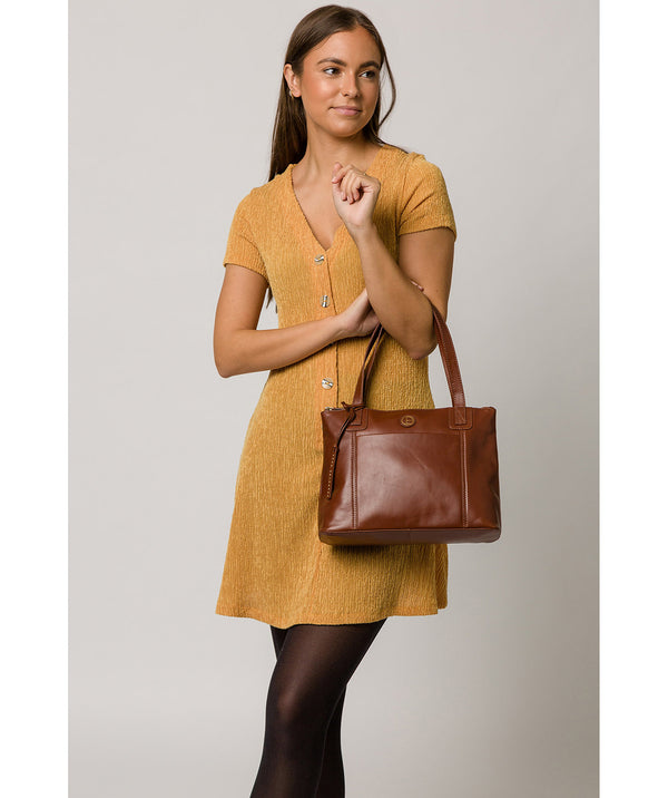 'Newark' Vintage Cognac Leather Handbag image 2