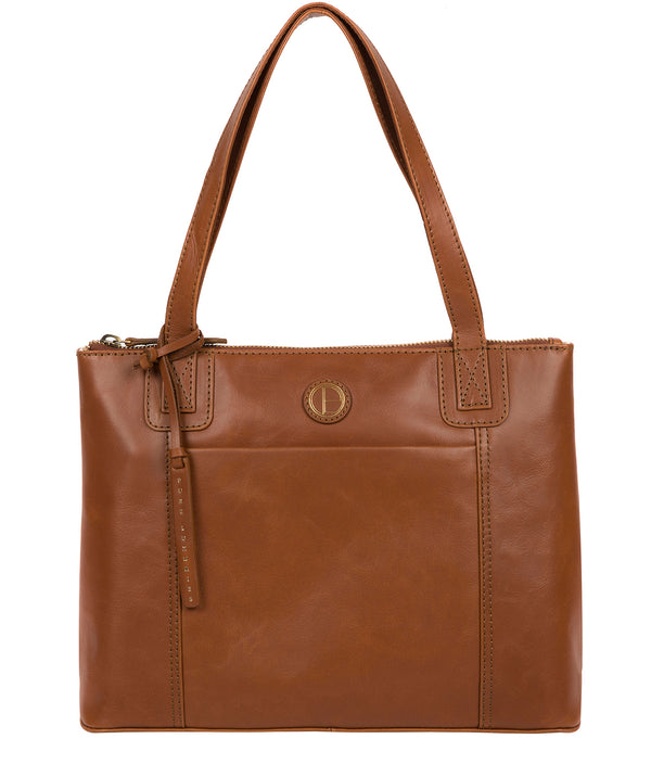 'Newark' Vintage Dark Tan Leather Handbag image 1