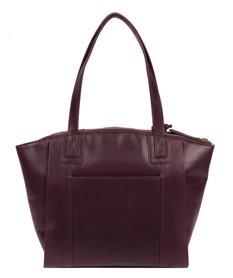 'Jura' Blackberry Leather Handbag