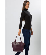 'Jura' Blackberry Leather Handbag image 7