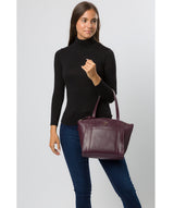 'Jura' Blackberry Leather Handbag image 2