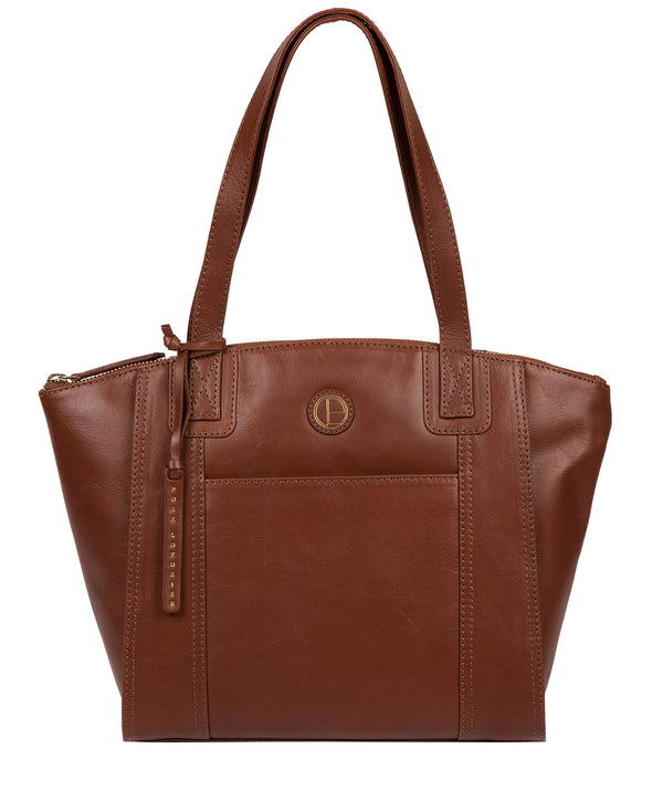 'Jura' Vintage Cognac Leather Handbag image 1