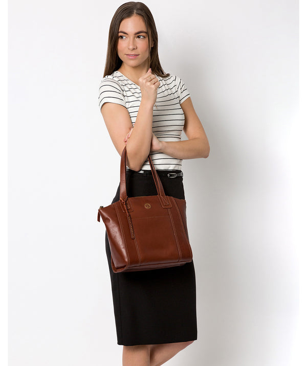 'Jura' Vintage Cognac Leather Handbag image 2