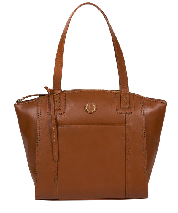 'Jura' Vintage Dark Tan Leather Handbag image 1
