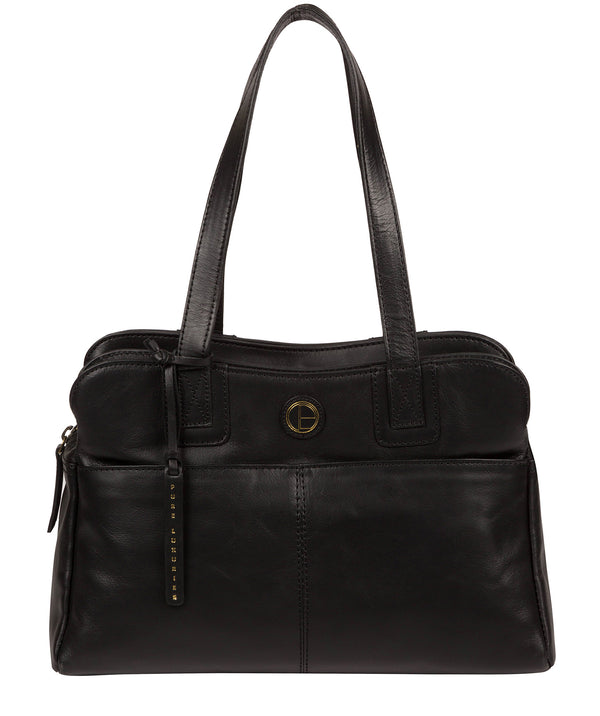 'Beacon' Vintage Black Leather Handbag