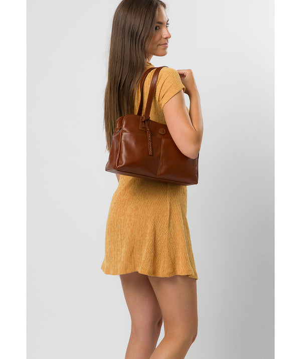 'Beacon' Vintage Cognac Leather Handbag