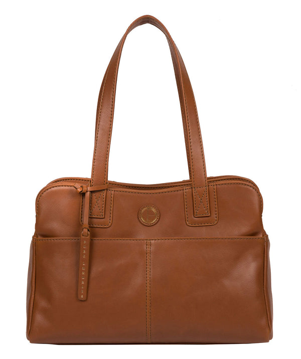 'Beacon' Vintage Dark Tan Leather Handbag
