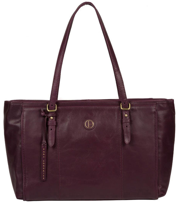 'Wollerton' Blackberry Leather Tote Bag image 1