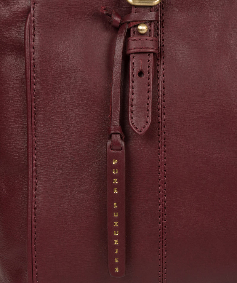 'Wollerton' Burgundy Leather Tote Bag image 6