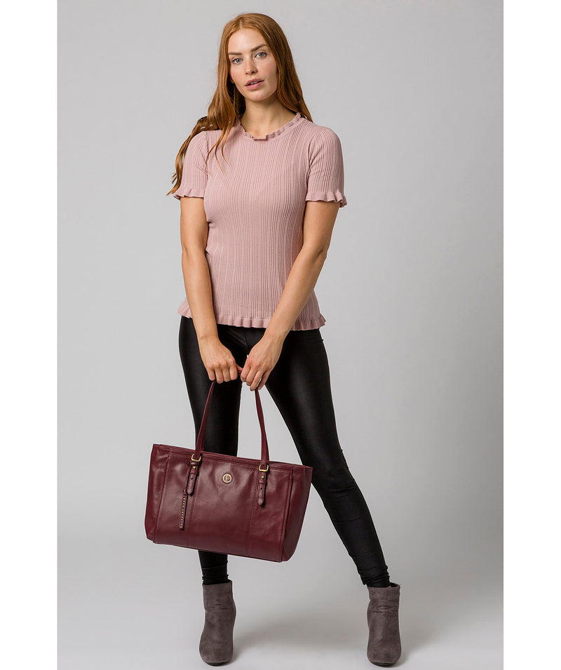 'Wollerton' Burgundy Leather Tote Bag image 2