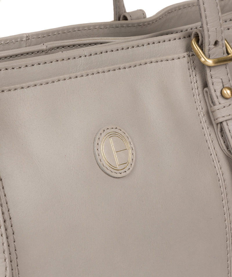 'Wollerton' Dove Grey Leather Tote Bag image 8