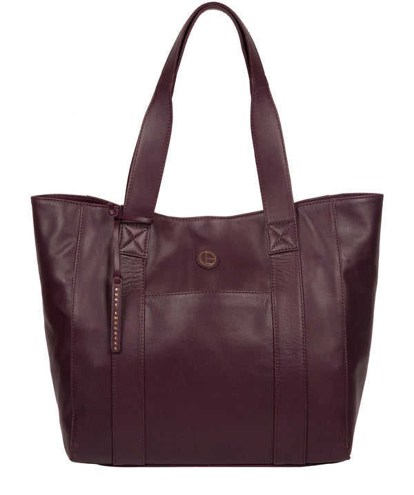 'Cranbrook' Blackberry Leather Tote Bag image 1