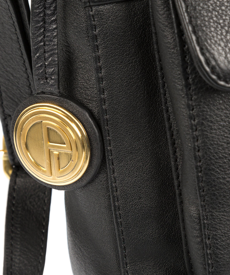 'Finola' Black Leather Bag