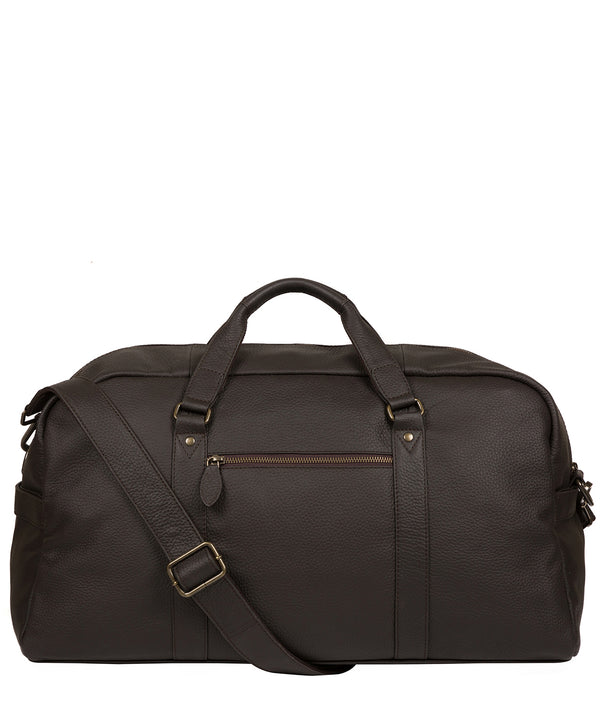'Drake' Brown Leather Holdall image 1
