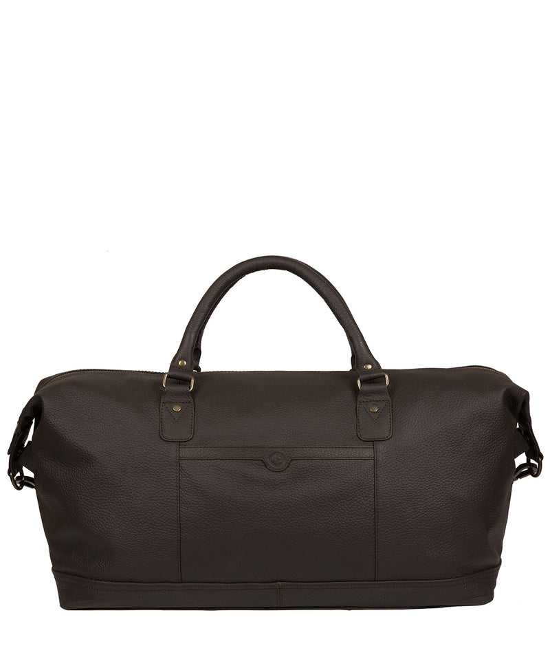'Mallory' Brown Leather Holdall