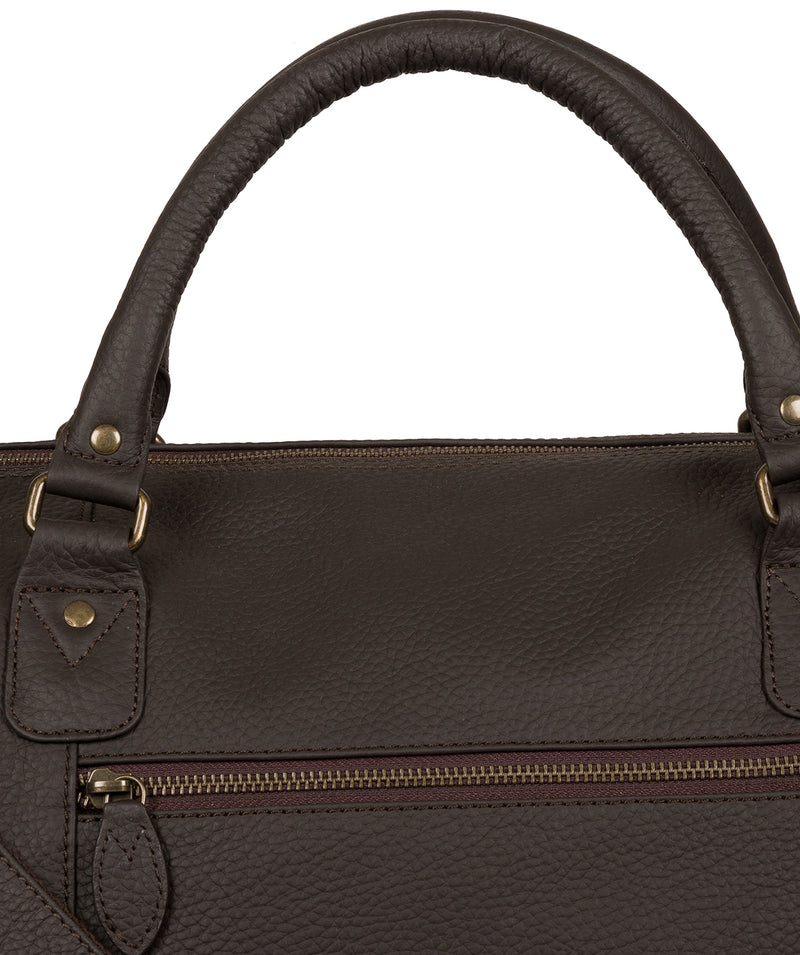 'Mallory' Brown Leather Holdall image 6