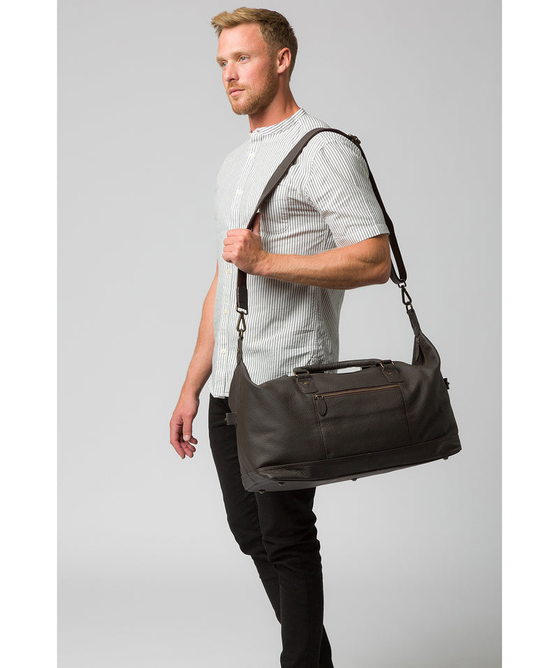'Mallory' Brown Leather Holdall image 2