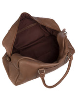 'Shackleton' Dark Chestnut Leather Holdall Pure Luxuries London