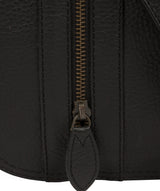 'Byron' Black Leather Messenger Bag image 6