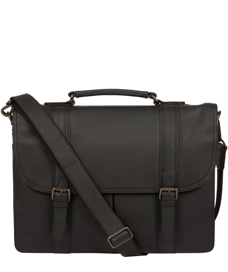 'Caxton' Black Leather Briefcase image 1