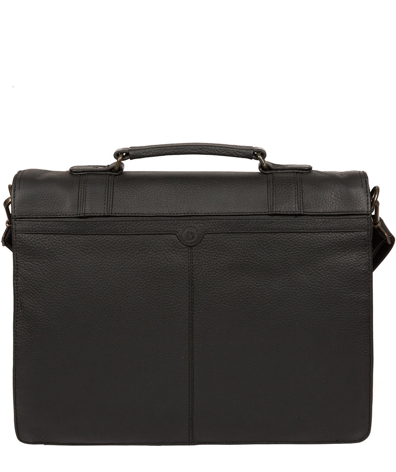 'Caxton' Black Leather Briefcase image 3