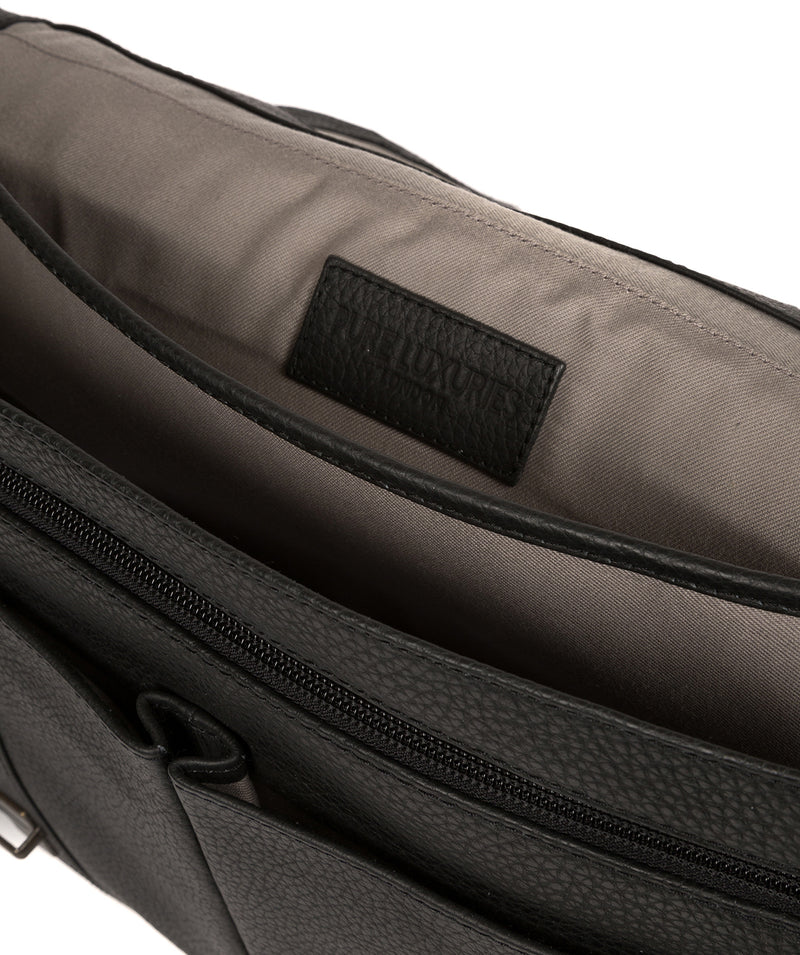 'Caxton' Black Leather Briefcase image 4