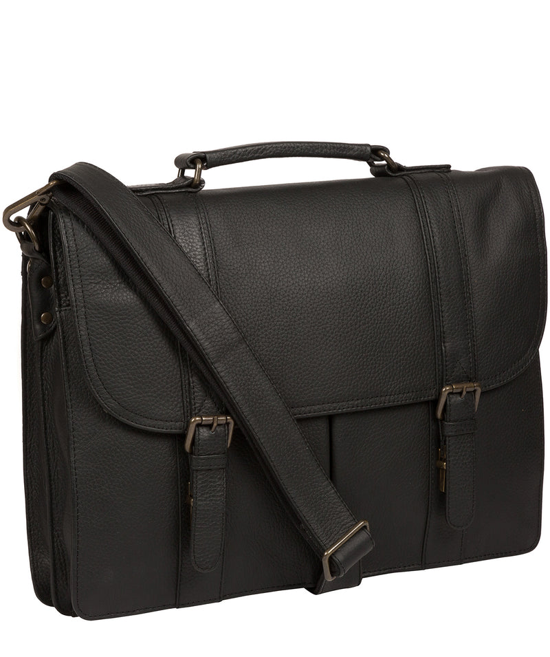 'Caxton' Black Leather Briefcase image 5