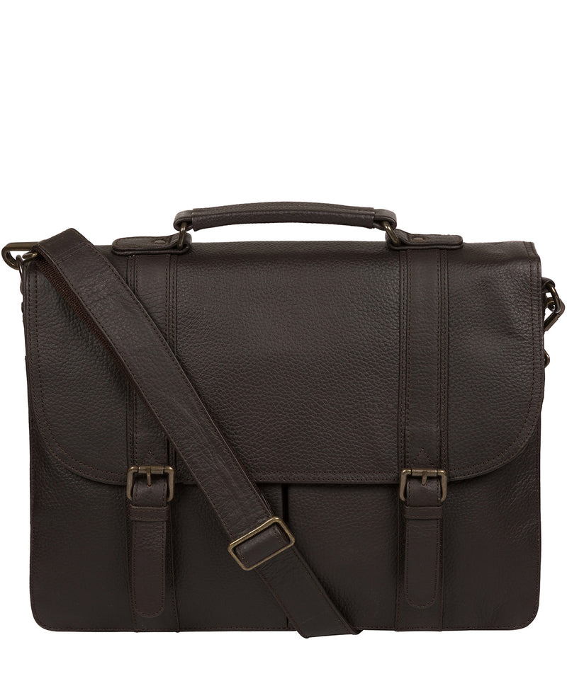 'Caxton' Brown Leather Briefcase image 1