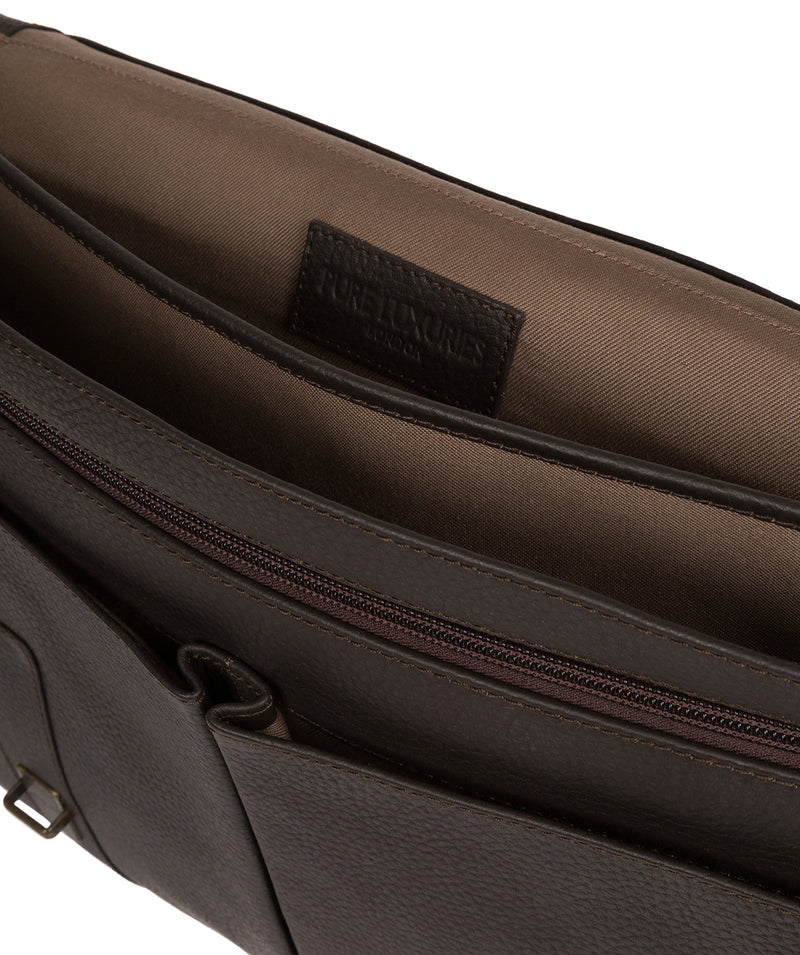 'Caxton' Brown Leather Briefcase image 4