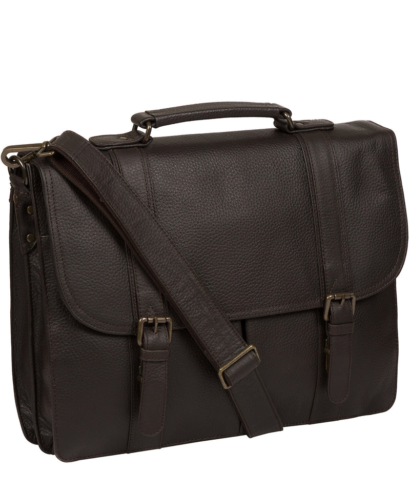 'Caxton' Brown Leather Briefcase image 5