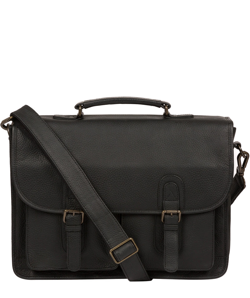 'Scott' Black Leather Workbag image 1