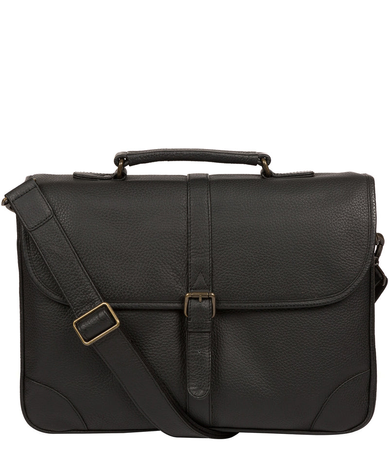 'Wallace' Black Leather Briefcase image 1