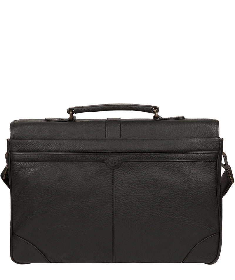 'Wallace' Black Leather Briefcase image 3
