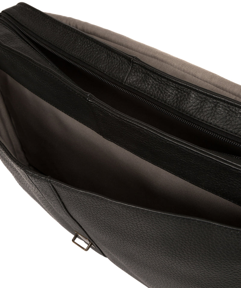 'Wallace' Black Leather Briefcase image 4