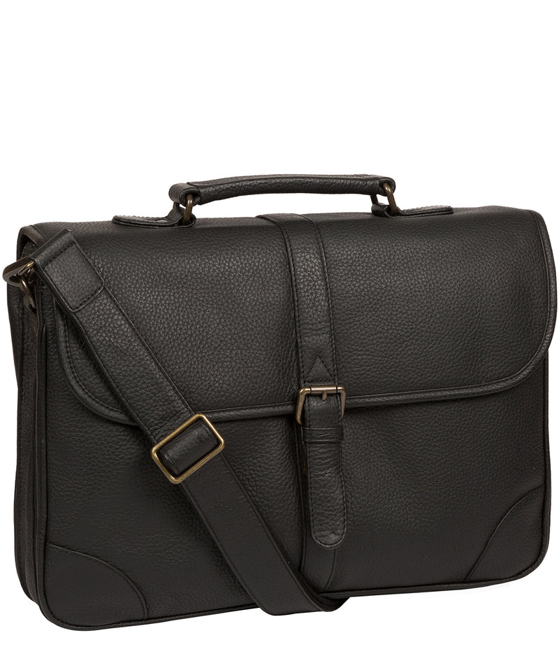 'Wallace' Black Leather Briefcase image 5