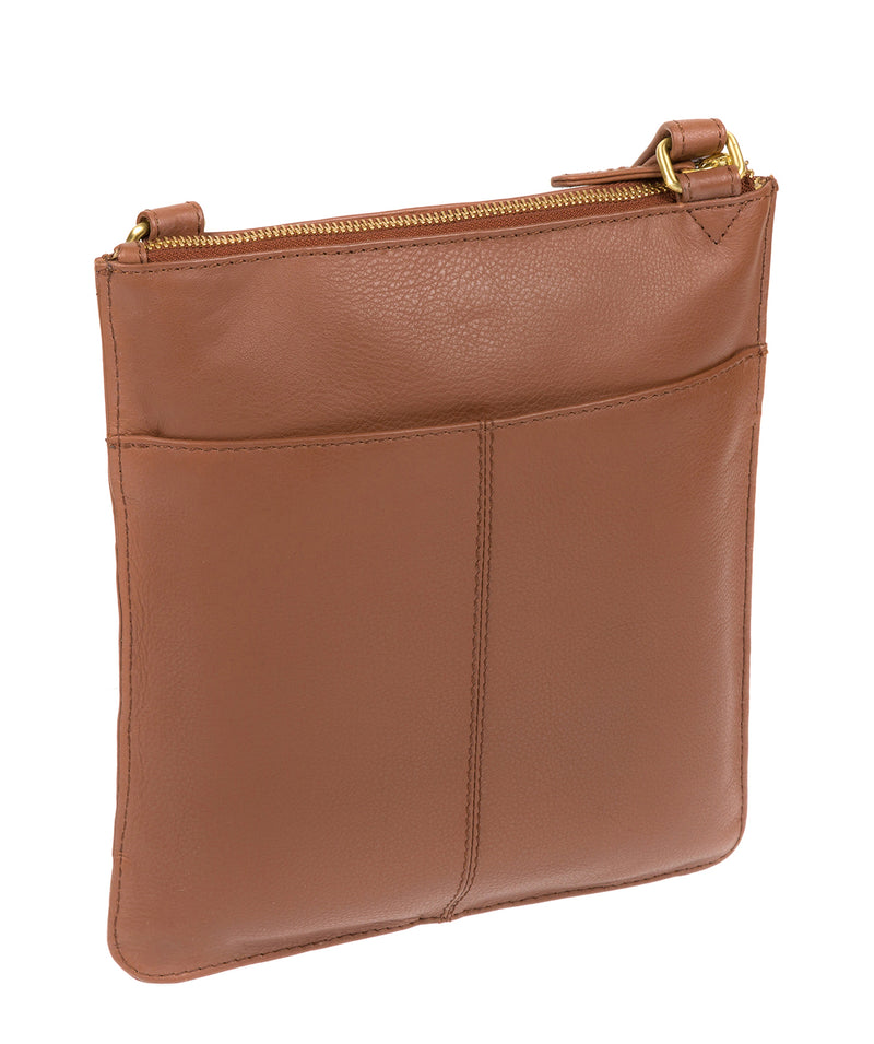 'Inverness' Tan Leather Cross Body Bag