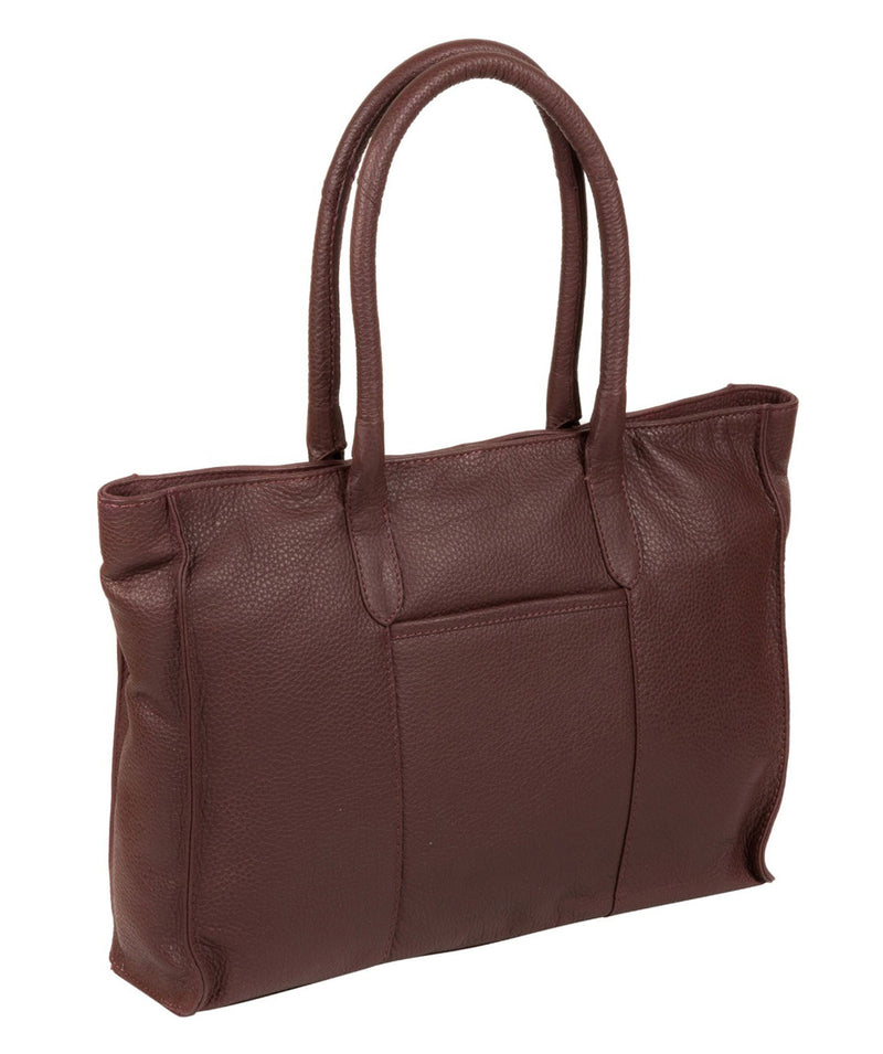 'Bexley' Auburn Leather Tote Bag