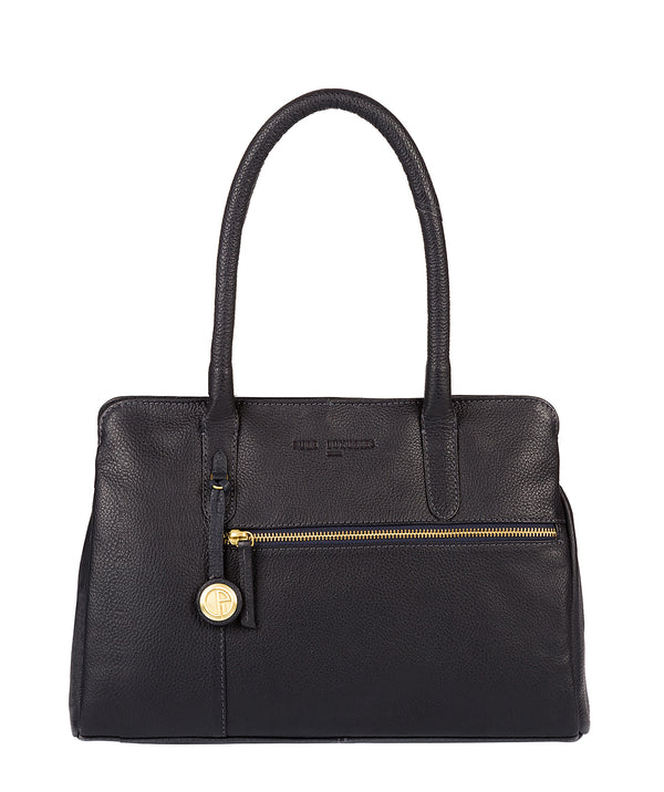 'Darley' Navy Leather & Gold-Coloured Detail Handbag