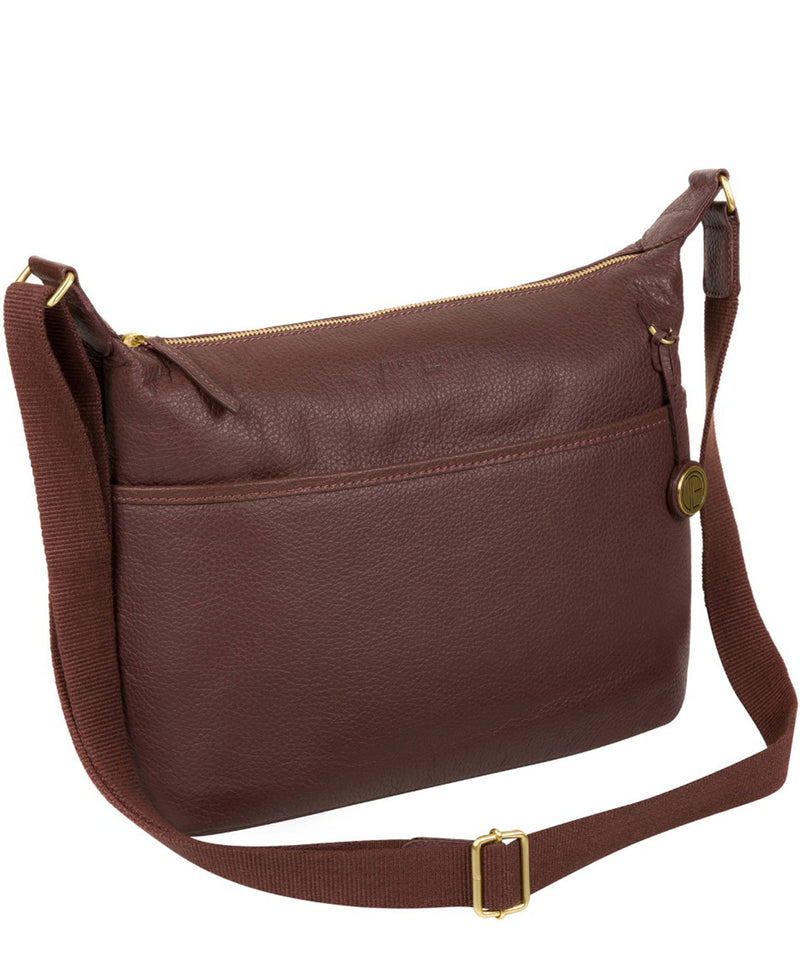 'Helmsley' Auburn Leather Shoulder Bag