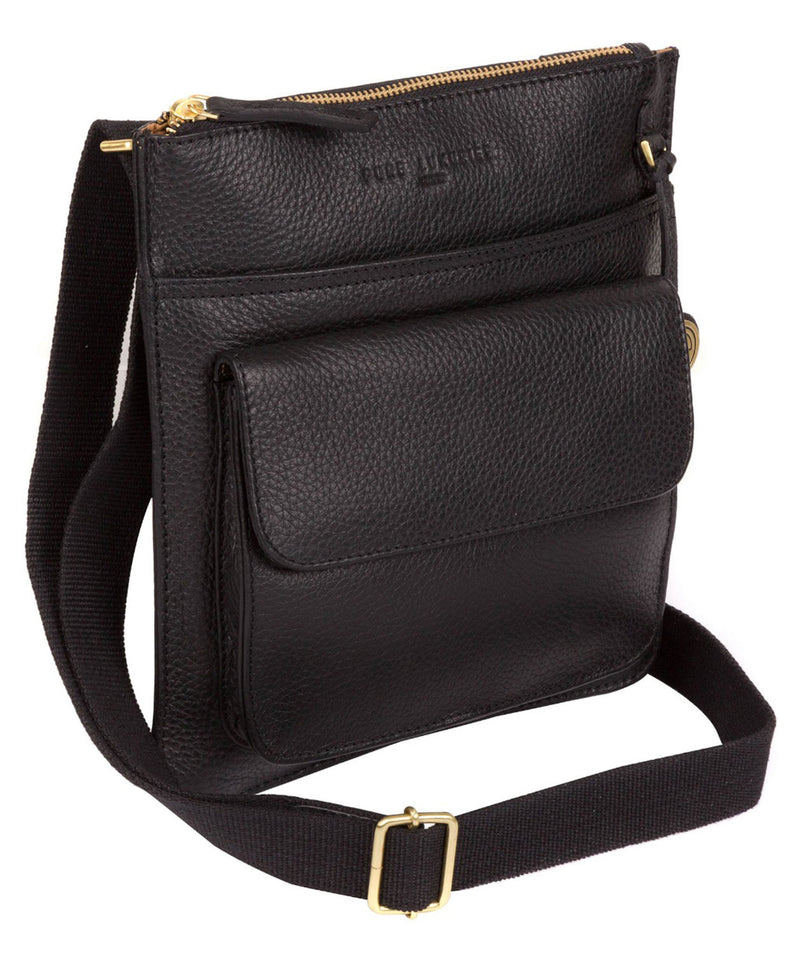 'Jarrow' Black & Gold-Coloured Detail Bag