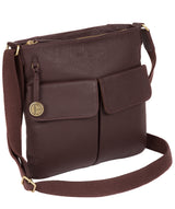'Alice' Auburn Leather Cross Body Bag