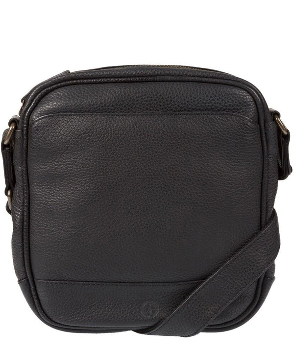'Flighty' Black Leather Cross Body Bag