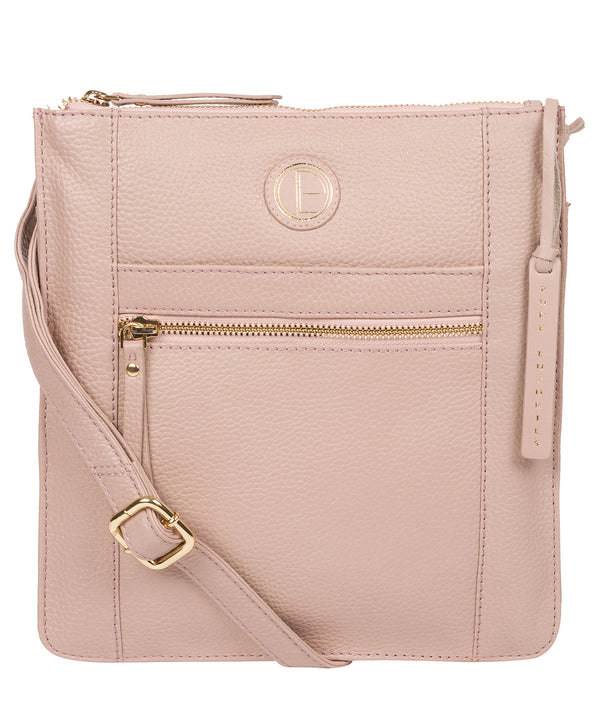 'Topaz' Blush Pink Leather Cross Body Bag image 1