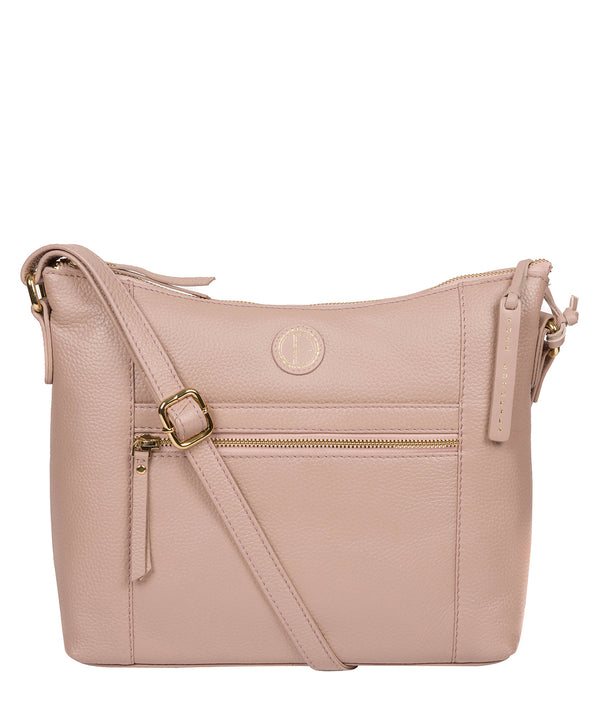 'Sequoia' Blush Pink Leather Shoulder Bag image 1