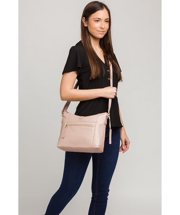 'Sequoia' Blush Pink Leather Shoulder Bag image 2