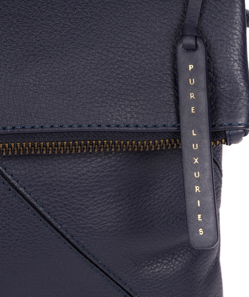 'Korin' Navy Leather Cross Body Bag image 5