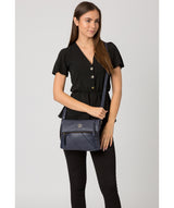 'Korin' Navy Leather Cross Body Bag image 2